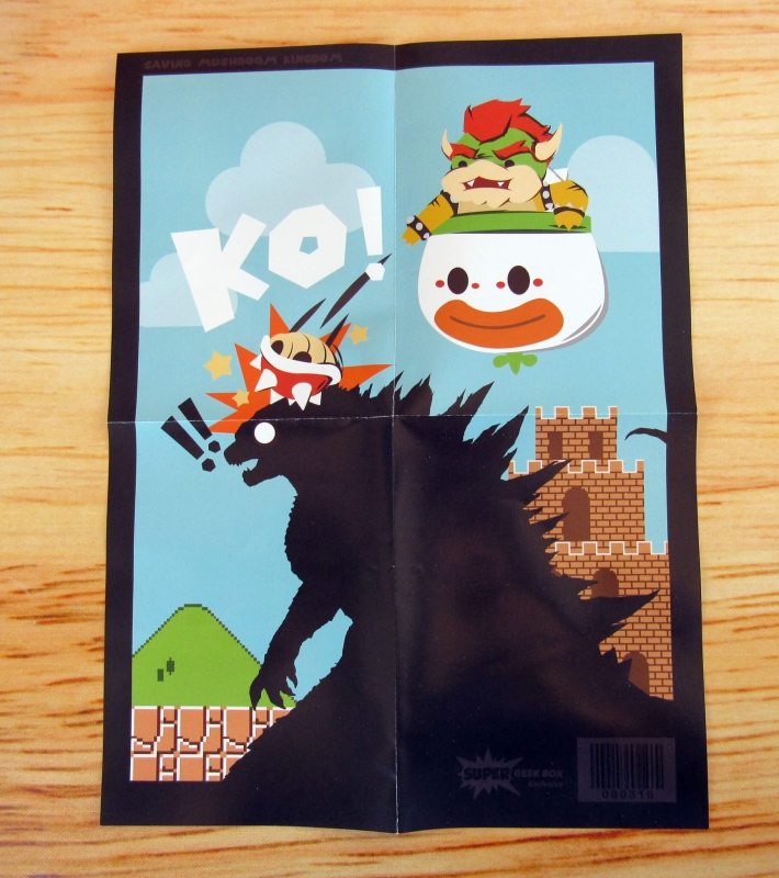 Super Geek Box Exclusive Saving Mushroom Kingdom Poster