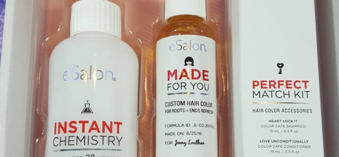 September 2016 eSalon Custom Hair Color Subscription Review + Coupon