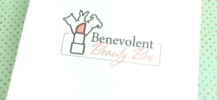 Benevolent Beauty Box June 2016 Subscription Box Review