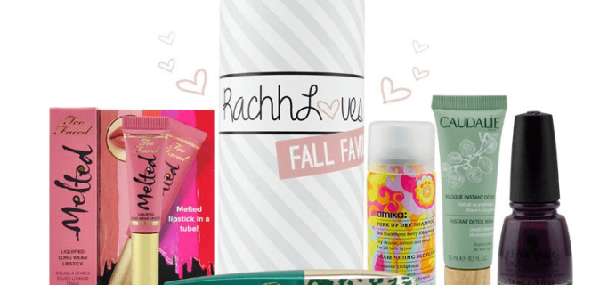 Limited Edition RachhLoves Fall Favourites TopBox Available Now!