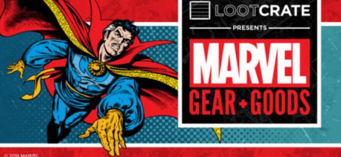 Loot Crate Marvel Gear + Goods November 2016 Spoilers