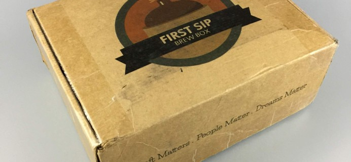 First Sip Brew Box October 2016 Subscription Box Review + Coupon