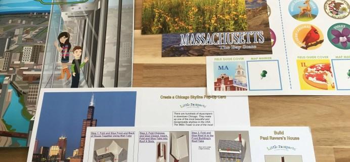 Little Passports USA October 2016 Subscription Box Review + Coupon – Illinois & Massachusetts