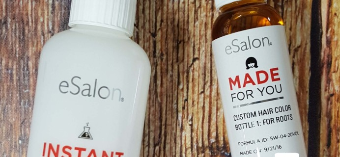 eSalon Custom Color Subscription Box Review & Coupon – October 2016