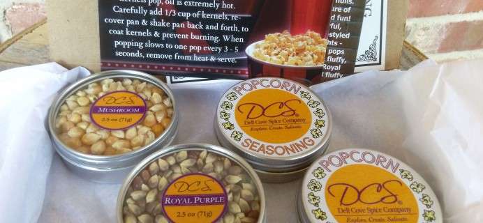 DCS Gourmet Popcorn of the Month Club Subscription Box Review & Coupon – October 2016