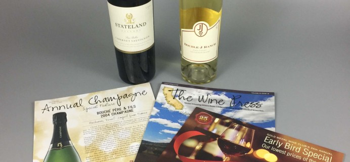Gold Medal Wine Club October 2016 Subscription Box Review + Coupon