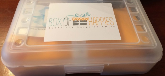Box of Happies September 2016 Subscription Box Review + Coupon