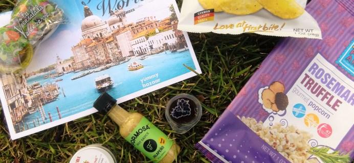 Yummy Bazaar September 2016 Subscription Box Review – Mini Box