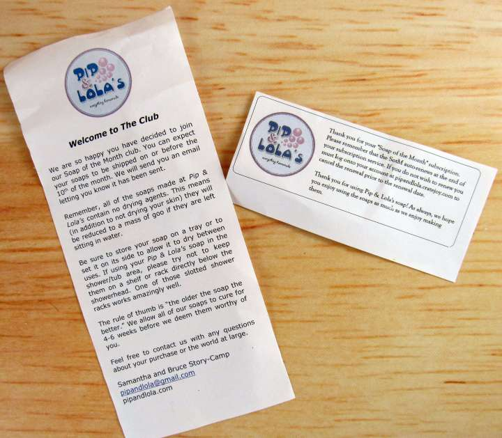 Information Card and Reminder