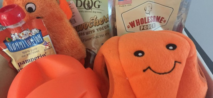 Pooch Perks October 2016 Subscription Box Review & Coupon