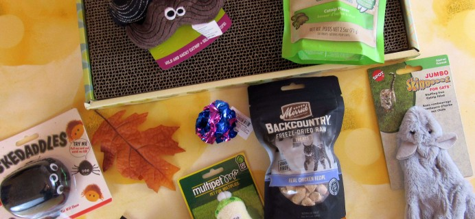 Purr-Packs October 2016 Subscription Review & Coupon – Fun and Love Size