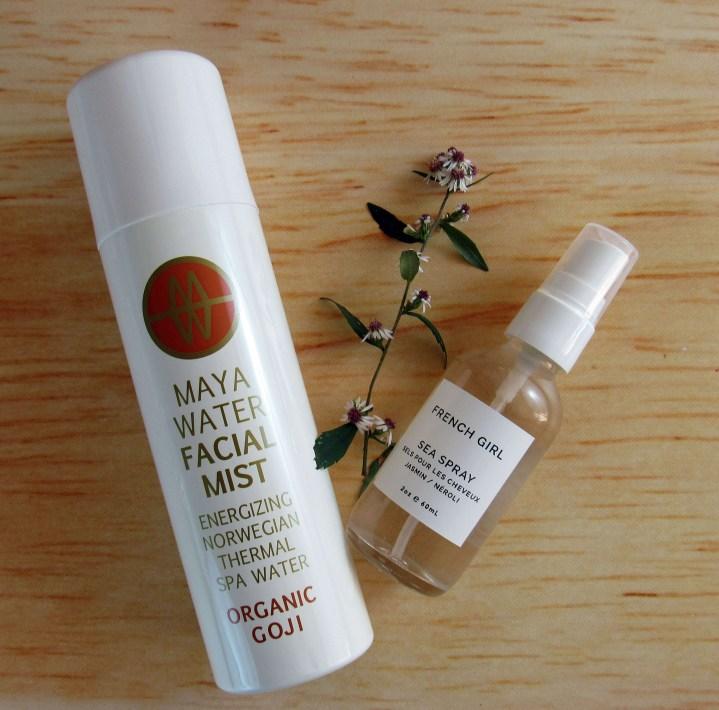 Maya Water Facial Mist and French Girl Organics Sea Spray