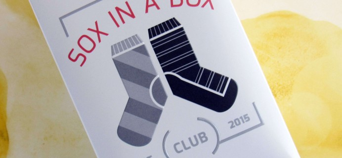 Sox In A Box August 2016 Subscription Box Review + Coupon!