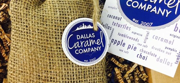 Dallas Caramel Company October 2016 Subscription Box Review