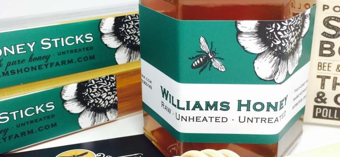 William's Honey Farm October 2016 Subscription Box Review
