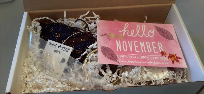 The Glam Jewelry Box November 2016 Subscription Box Review