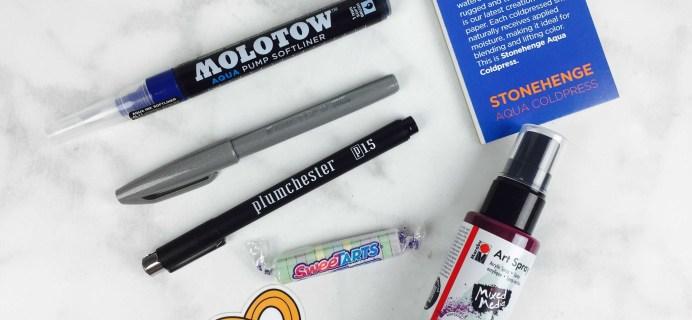 Art Snacks November 2016 Subscription Box Review