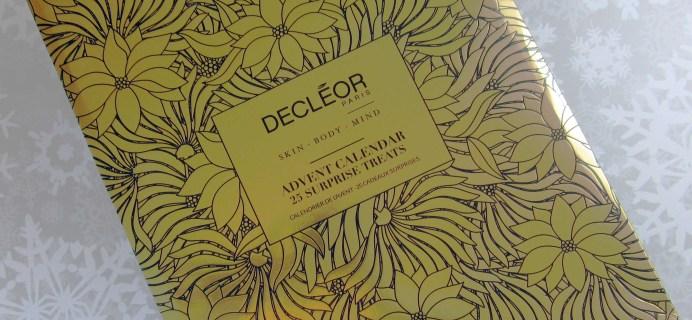 Decléor Advent Calendar 2016 Mini-Review