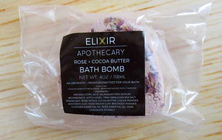 Elixir Apothecary Rose + Cocoa Bath Bomb