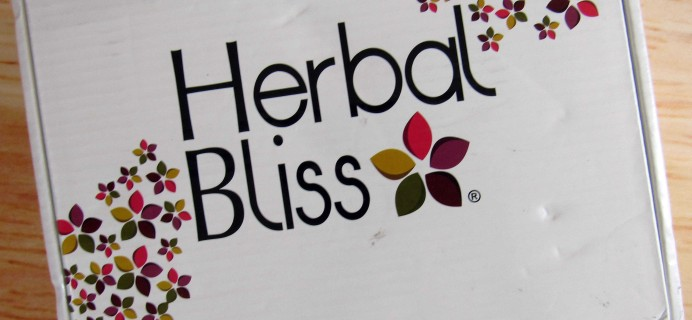 Herbal Bliss Subscription Box Review – September 2016