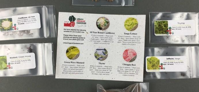 Urban Organic Gardener November 2016 Subscription Box Review + Coupon