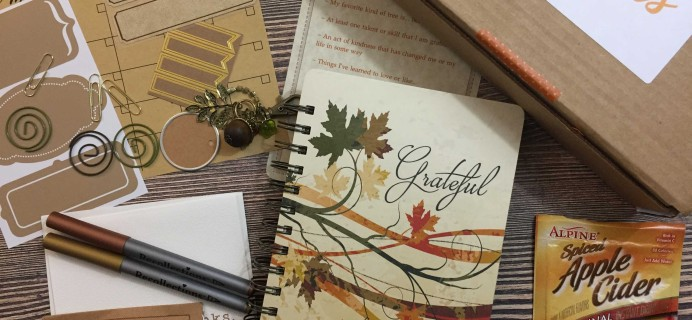 Holly Journals November 2016 Subscription Box Review + Coupon