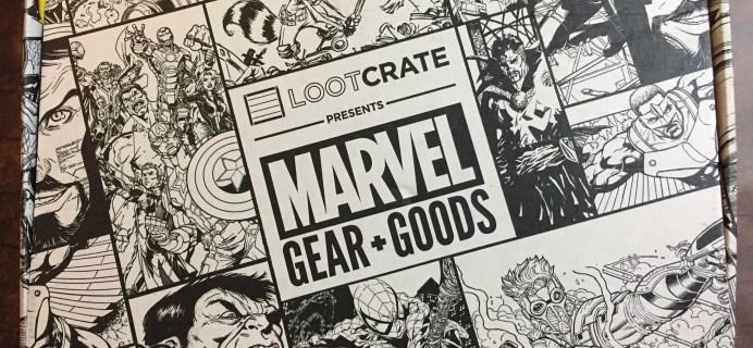 Marvel Gear + Goods November 2016 Subscription Box Review