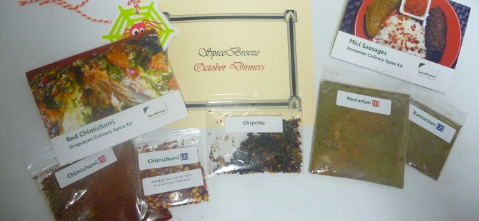 SpiceBreeze Subscription Box Review + Coupon!  October 2016