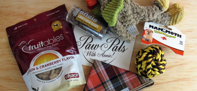 PawPals With Annie! November 2016 Subscription Box Review + Coupon