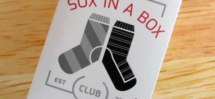 Sox In A Box November 2016 Subscription Box Review + Coupon!