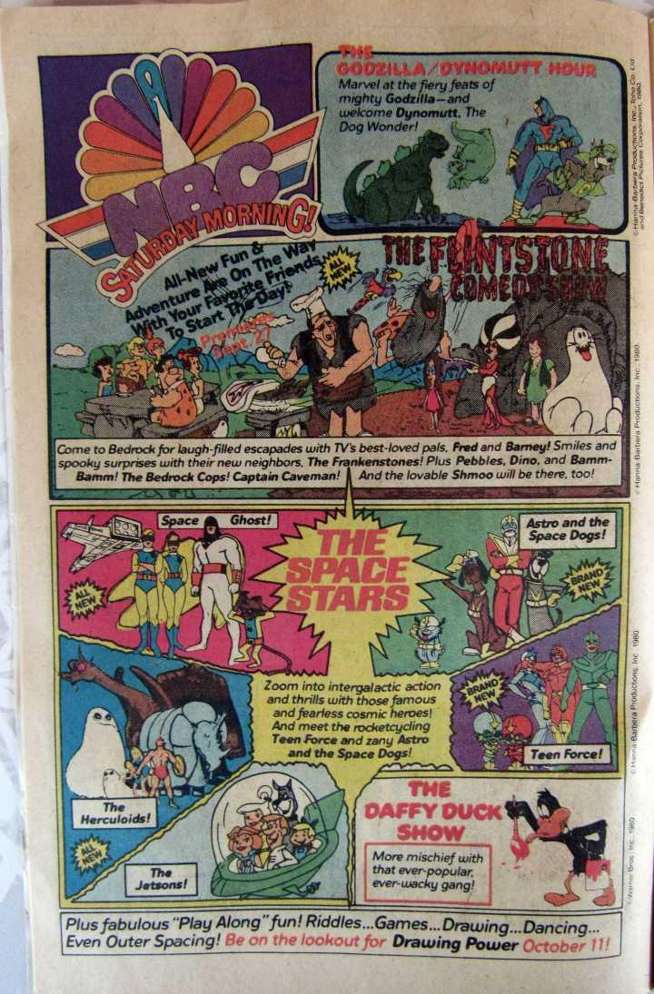 Saturday Morning cartoons!
