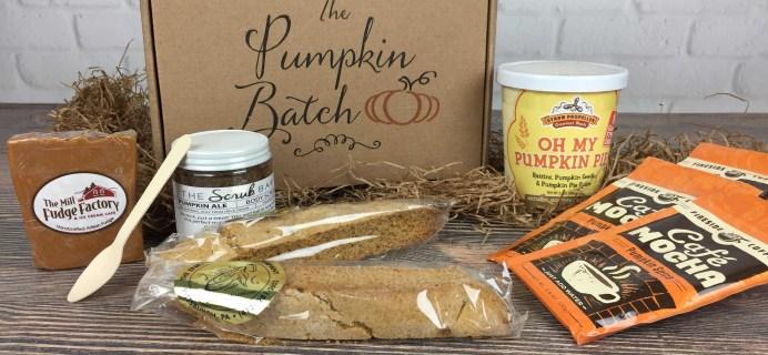 The Pumpkin Batch November 2016 Subscription Box Review