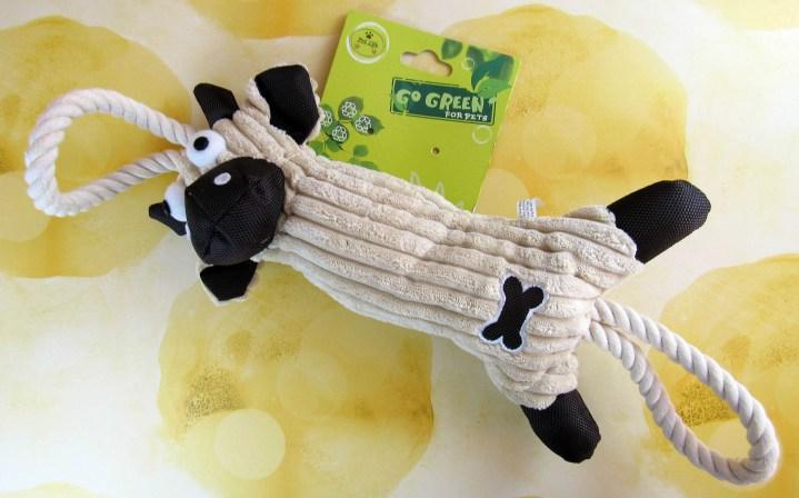 Pet Natural Jute Rope Plush Cow Toy