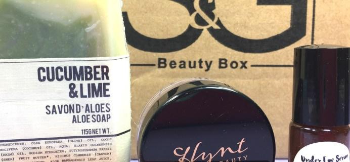 S&G Beauty Box November 2016 Subscription Box Review + Coupon