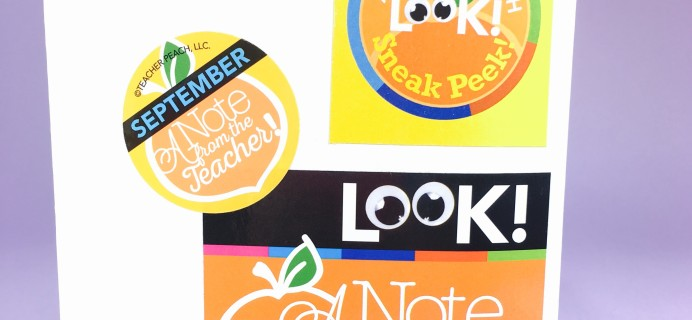 Teacher Peach A Note from the Teacher Subscription Box Review – September 2016