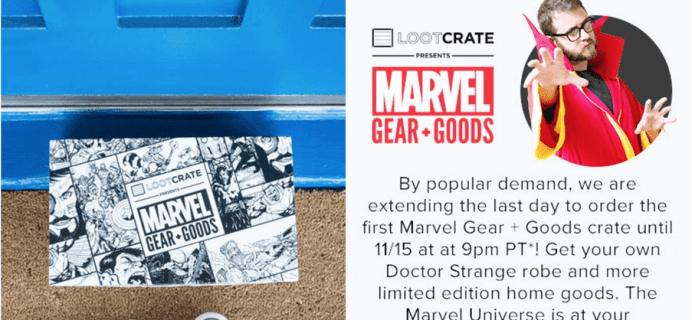 Marvel Gear + Goods November 2016 EXTENDED + Full Spoilers!