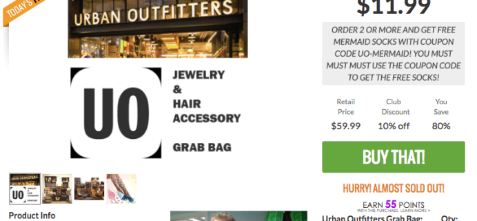 Urban Outfitters Mystery Grab Bag from That Daily Deal! It's Back!