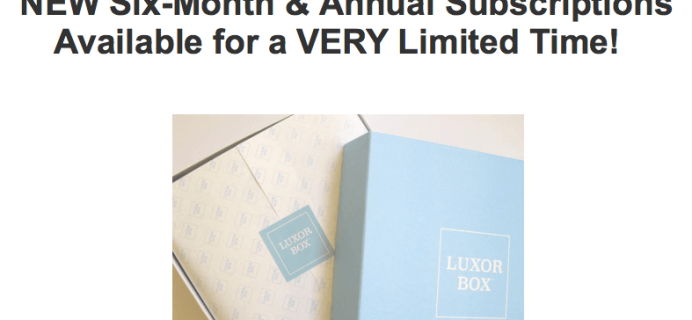 Luxor Box Deal: Free Gifts with Subscriptions!
