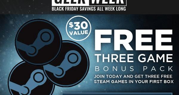 Geek Fuel Black Friday Deal: 3 Free Steam Games!