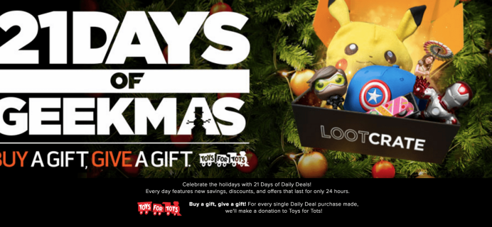 Loot Crate Geekmas Deal: 15% Off Loot Gaming + Halo Legendary Crate!