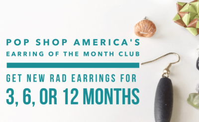 Pop Shop America: Earring of The Month Club Black Friday Coupon!