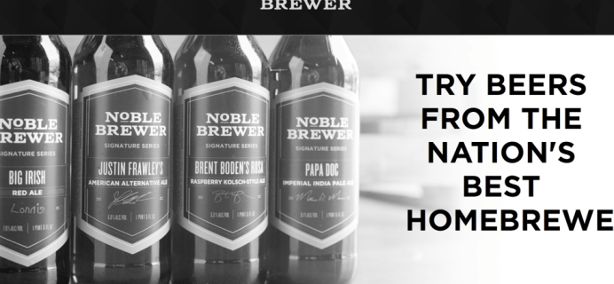 Noble Brewer Cyber Monday Special: 8 FREE beers with first box!