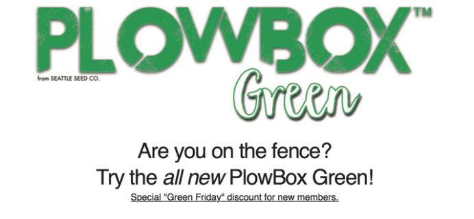 PlowBox Green MicroGreens Subscription Box Black Friday Deal – Free Box or 20% Off!