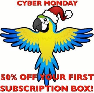 Talon Toys Cyber Monday Bird Subscription Box Deal: 50% Off First Box!
