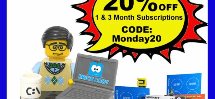 Brick Loot Cyber Monday Deal: Save 20% on 1&3 Month Subscriptions!