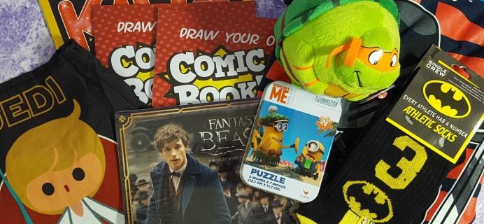Nerd Block Jr. Boys Subscription Box Review & Coupon – November 2016