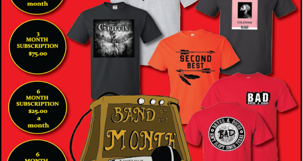Band of the Month T-Shirt Club Cyber Monday Coupon – Buy 1 Month Get a 3 Month Gift to Give!
