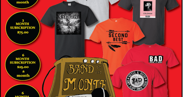 Band of the Month T-Shirt Club Black Friday Coupon!