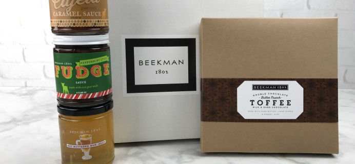 Beekman 1802 Specialty Food Club December 2016 Subscription Box Review