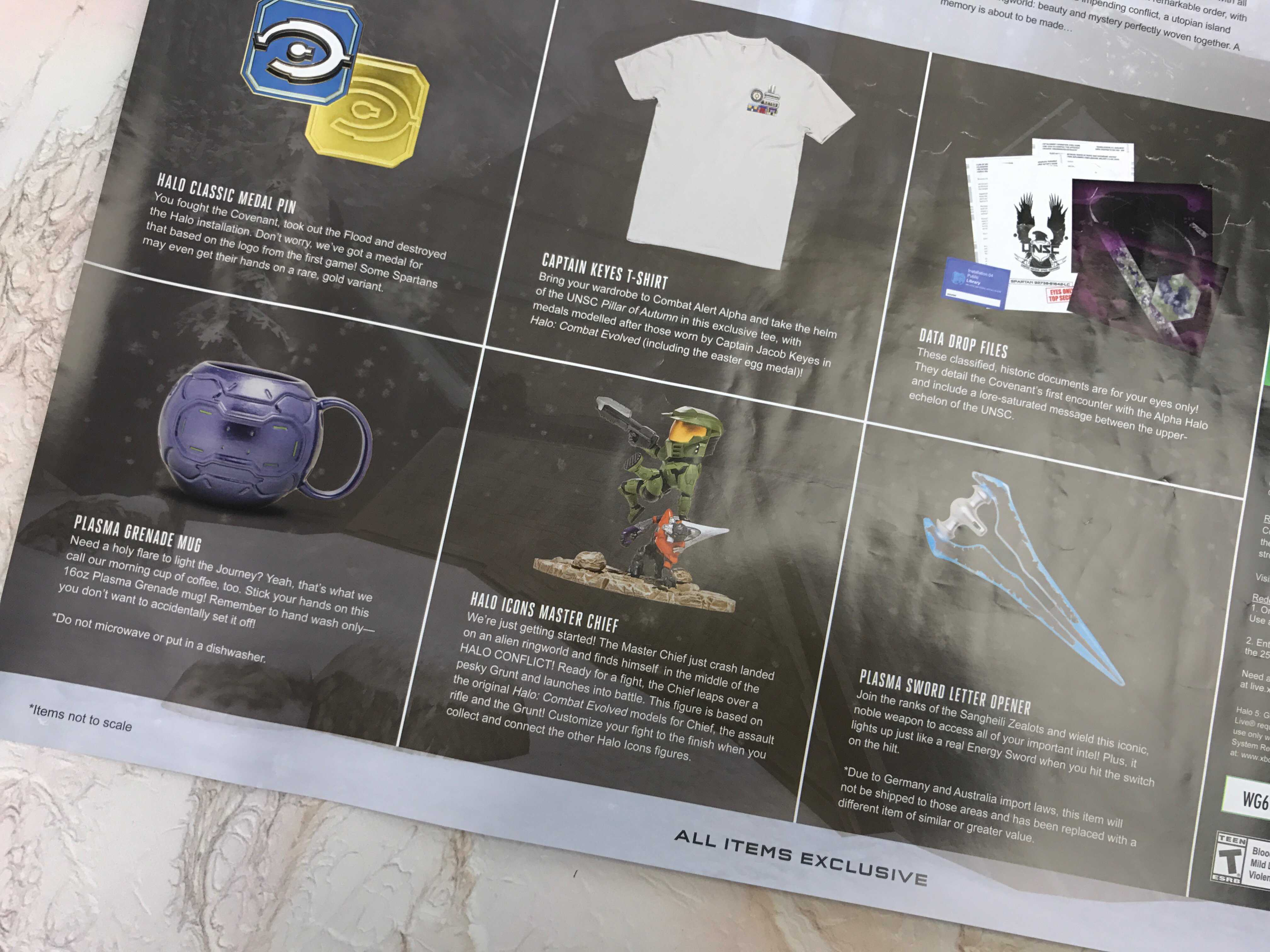The Back Of The Poster Shows The List Of All The Items Included In The  Crate And Details On The Theme